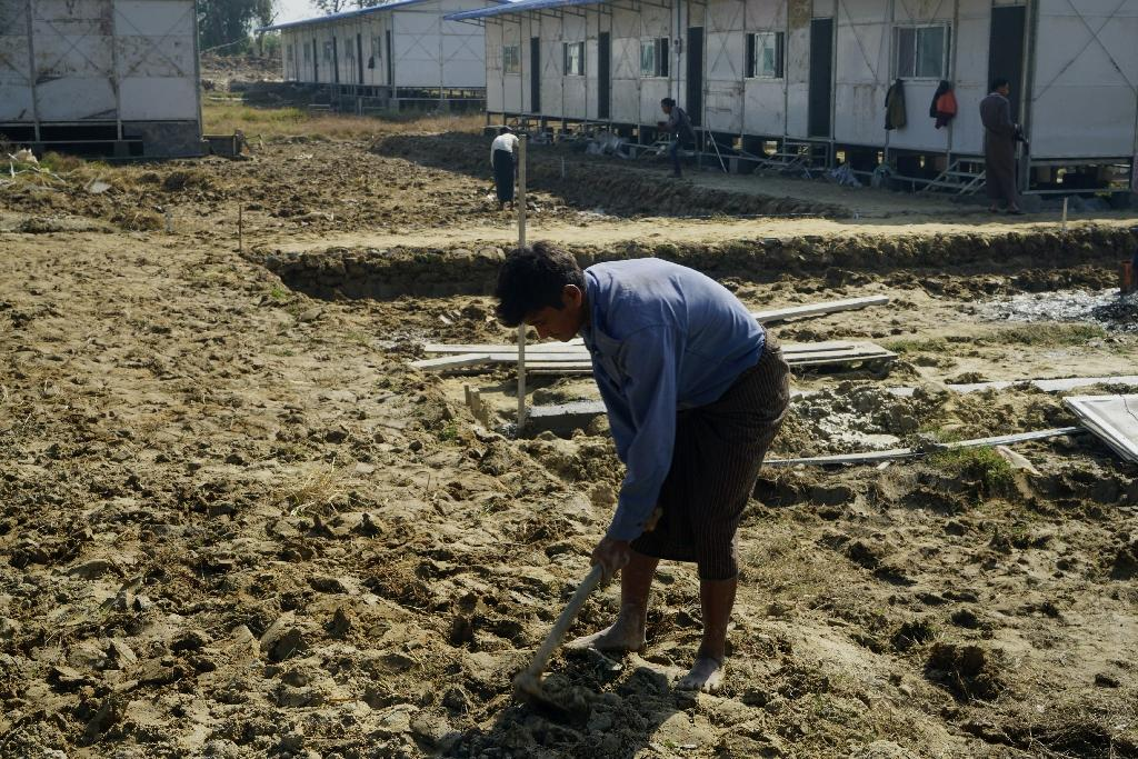 Myanmar has built transit camps and repatriation centres, like this one in Taung Pyo Letwe, for any returning Rohingya (AFP Photo/Cape Diamond)