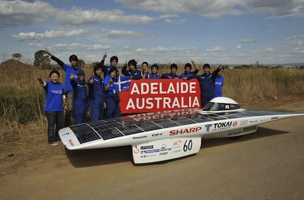 Japanese team takes top prize at World Solar Challenge