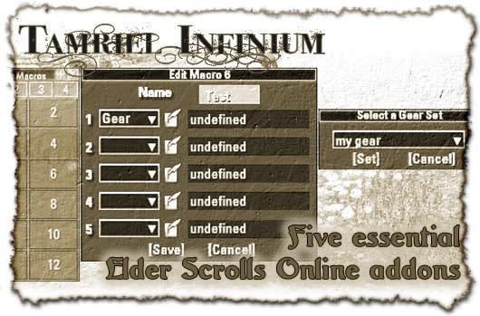 Tamriel Infinium: Five essential Elder Scrolls Online addons