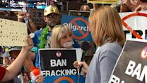 Democratic Delegates Protest Fracking