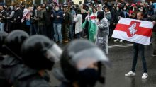 Police break up Belarus opposition protest with water cannon, stun grenades