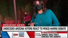 CNN's undecided voters reacted strongly to just 1 moment in the VP debate. It wasn't the Pence fly.