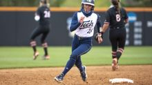 Jackets Drop Doubleheader to No. 15 Hokies, Late Game One Rally Falls Shy