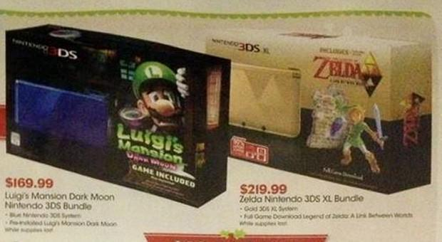 Zelda edition Nintendo 3DS XL spotted in GameStop ad with $220 price