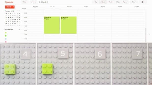 Lego calendar uses bricks to organize your office, makes productivity adorable