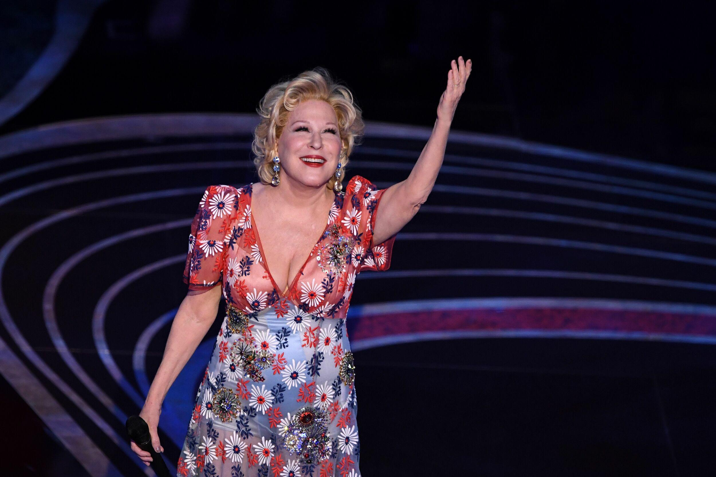 Us Singer Bette Midler performs during the 91st Annual Academy Awards at the Dolby Theatre in Hollywood, California on February 24, 2019. (Photo by VALERIE MACON / AFP)        (Photo credit should read VALERIE MACON/AFP/Getty Images)