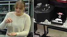 Bandit leaves trail of gold jewellery behind after smash-and-grab heist