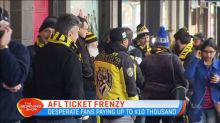 Ticket scalpers making thousands on AFL finals tickets