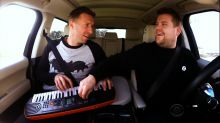 Coldplay's Chris Martin Carpool Karaokes With James Corden to Super Bowl