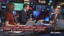 Trump picks camera-proven Kudlow as top economic aide