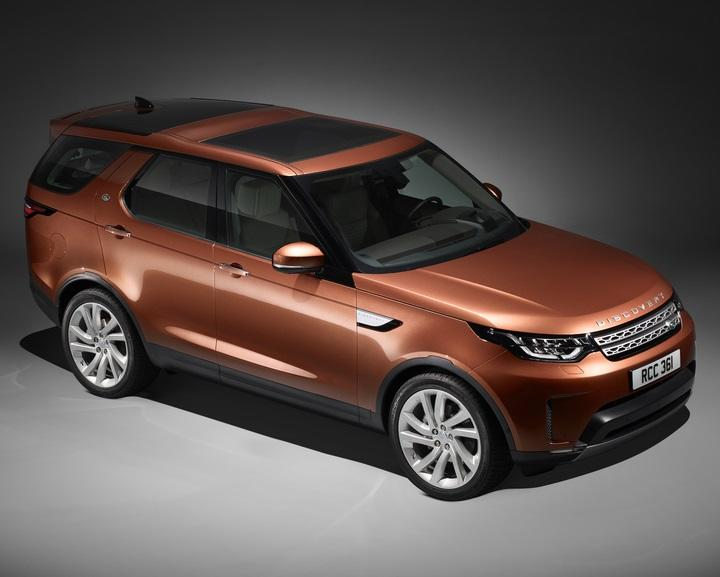 land rover unveils new 2017 discovery at paris motor show. Black Bedroom Furniture Sets. Home Design Ideas