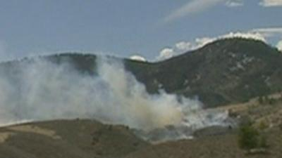 Raw: Colo. Wildfire Threatens 'Numerous Homes'