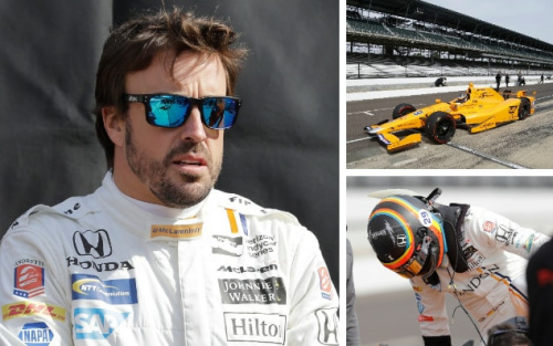 Fernando Alonso finally got behind the wheel in Indycar ahead of his debut - Darron Cummings/Michael Conroy/AP Photo