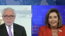 During heated exchange, Nancy Pelosi tells CNN's Wolf Blitzer he's 'an apologist' for the GOP