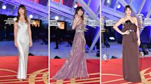 Dakota Johnson demonstrates the art of festive party dressing on the red carpet