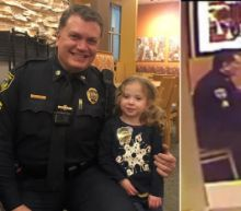 3-Year-Old Sits Down to Have Dinner With Police Officer Who Was Eating Alone