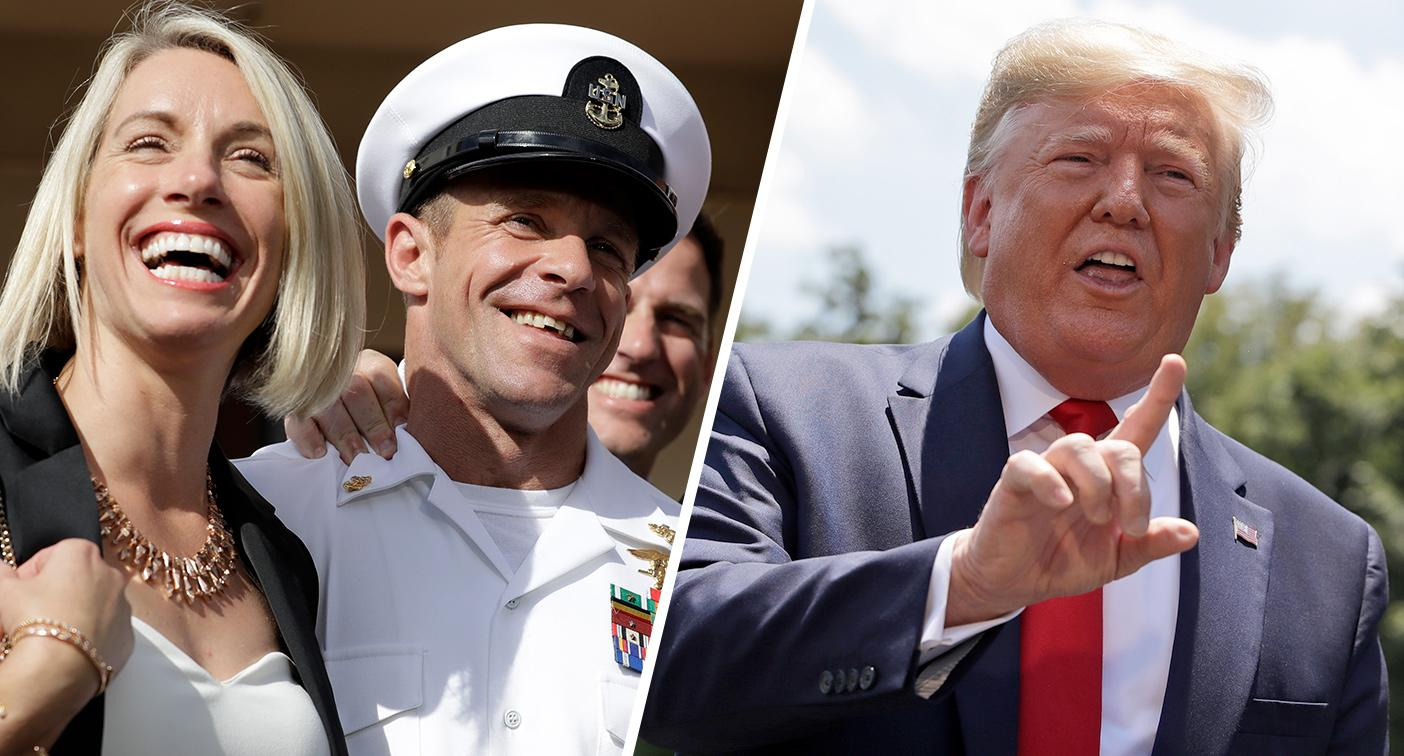 Trump congratulates Navy SEAL for acquittal on war crimes charges: 'Glad I  could help!'