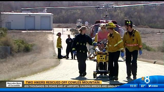 Two hikers rescued off Cowles Mountain