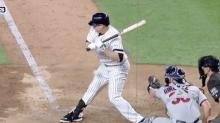 Chase Headley gets hit by a pitch right in the junk