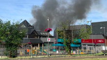 Firefighters tackle blaze at The Mall shopping centre in Walthamstow