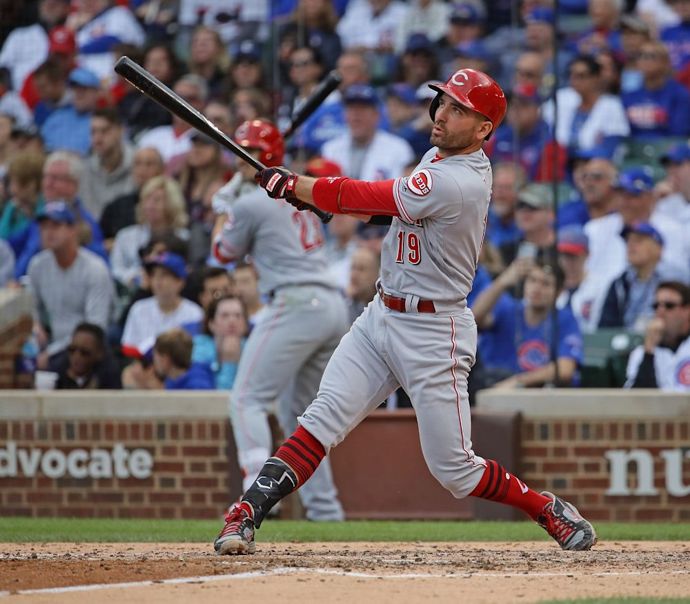 Is Joey Votto's crazy OBP enough to win him the NL MVP? (Getty Images)