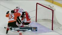 Ray Emery denies Monahan with quick save