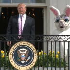 Trump uses Easter Egg Roll event to boast to children about US military then says 'no one disobeys my orders'