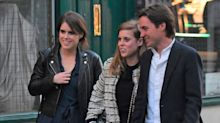 Princess Eugenie & Princess Beatrice Go on a Double Date in London
