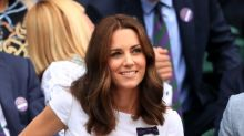 Duchess of Cambridge attends Wimbledon finals in Catherine Walker florals