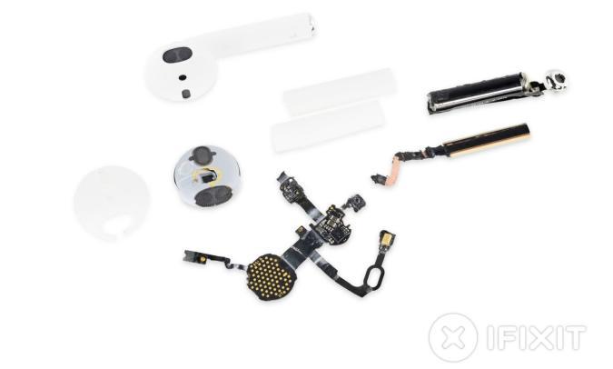 Estas son todas las (irreparables) piezas de los AirPods