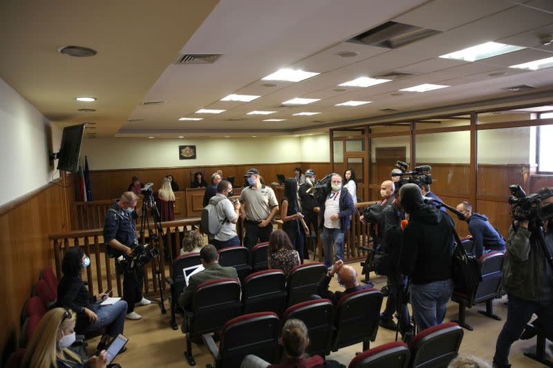 General view shows the courtroom at the Specialised Criminal Court in Sofia