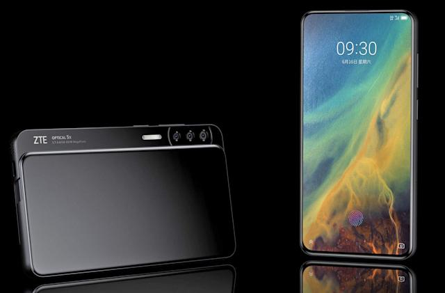 ZTE's all-screen Axon S phone could slide to hide its side cameras