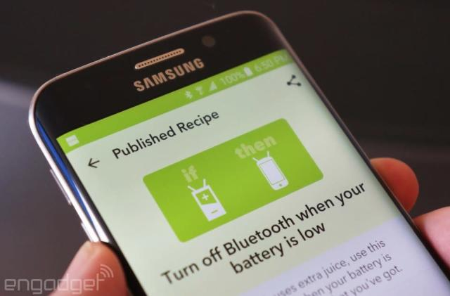 IFTTT's automation app can watch your Android phone's battery