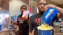 Cinema worker reveals 'popcorn scam' in viral TikTok clip