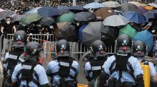 Asian markets retreat; Hang Seng sinks amid Hong Kong protests