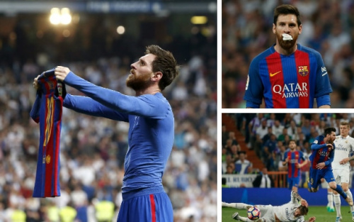 Messi was in the wars and the goals as Barcelona beat Real Madrid in Sunday's Clasico - Reuters