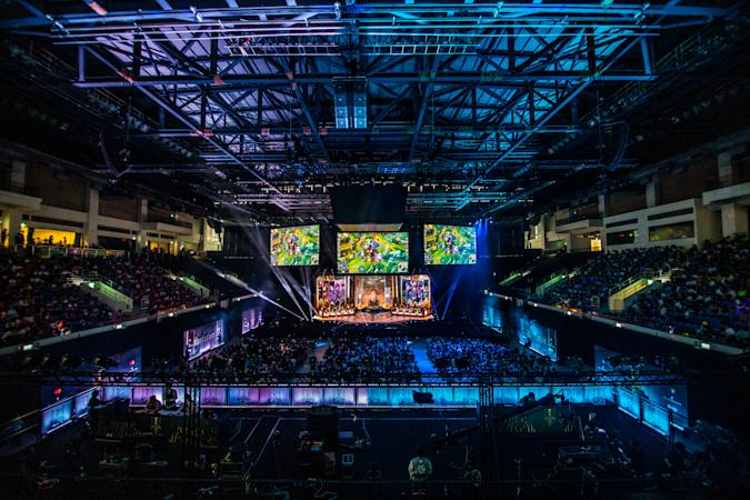 TAIPEI, TAIWAN - MAY 19: Crowd and stage at League of Legends Mid-Season Invitational Finals on May 19, 2019 in Taipei, Taiwan. (Photo by Timo Verdeil/ESPAT Media/Getty Images)