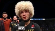 Khabib Nurmagomedov announces retirement in emotional UFC 254 Octagon Interview