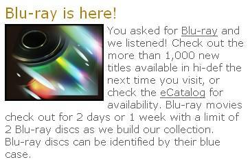 Blu-ray Discs sliding into public libraries -- has yours made the move?