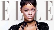 """Rihanna has a literal heart emoji on her face on the cover of """"Elle"""" magazine"""