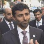 UAE energy minister Mazrouei on the new OPEC output targe...