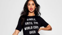 'Shop while he watches the footy': Boohoo apologises for running 'sexist' World Cup clothing campaign