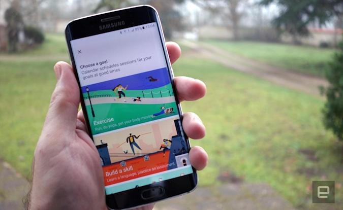 Google Calendar helps with fitness goals by logging workouts