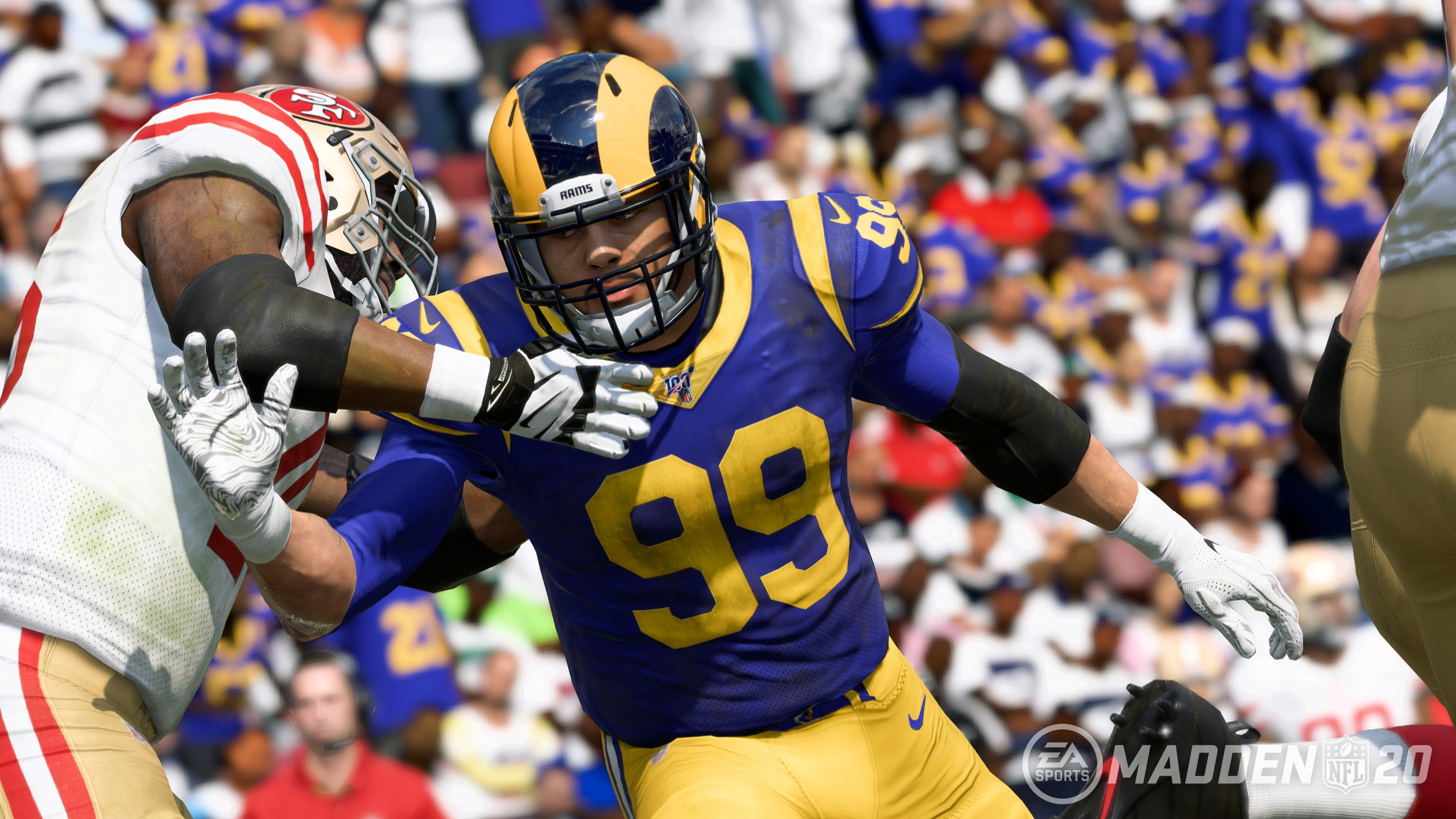 Who are the four top-rated NFL players in 'Madden NFL 20'? Only one plays on offense