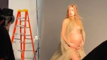 Gigi Hadid shares behind the scenes videos from her pregnancy shoot