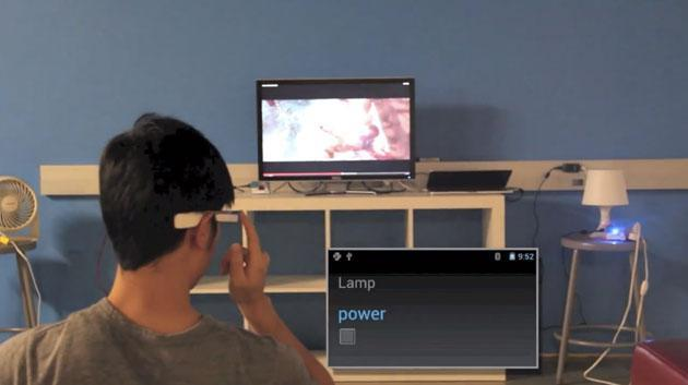 Google Glass mod gives you control over home appliances with one touch pairing