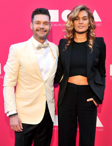 Ryan Seacrest and Shayna Taylor attended the Museum of Contemporary Art Gala together in L.A. in April. (Photo: Gregg DeGuire/WireImage)