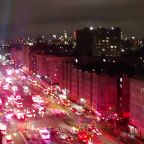 Scores of emergency vehicles respond to Bronx fire during COVID-19 lockdown