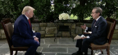President Trump and Fox News host Chris Wallace. (Fox News Sunday)