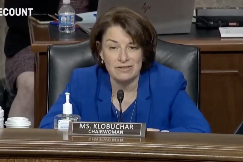 Amy Klobuchar shuts down Ron Johnson's conspiracy mongering at Capitol attack hearing